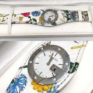 GUCCI | RARE Swiss Tropical Leather Diamond Watch